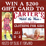 Carter's Watch the Wear $200 Gift Card Giveaway Event (ends July 31st)