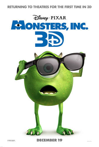 Monsters, Inc. 3D Trailer is here!!