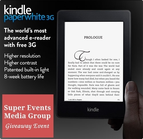 Amazon Kindle Paperwhite 3G Giveaway