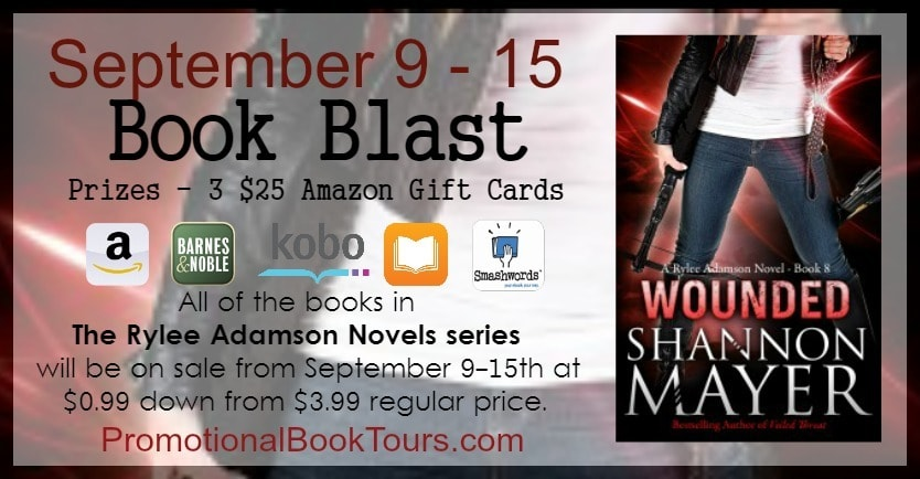 #BookBlast : Wounded by Shannon Mayer and Amazon Giveaway