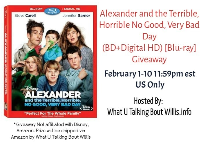 Alexander's Very Bad Day Blu-ray Giveaway (ends 2/10 11:59pm est)