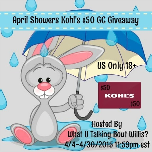 April Showers $50 Kohl's Gift Card #giveaway {ends 5/1/2015}