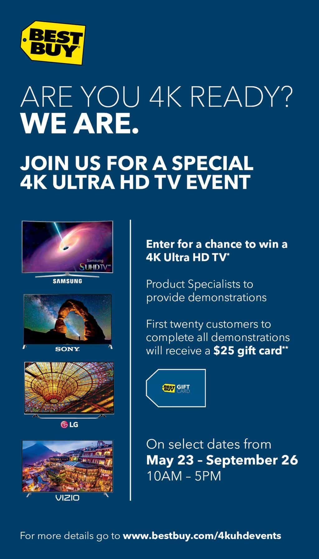 4K Ultra HD In Store Events Happening at Best Buy #UHDatBestBuy @BestBuy #ad
