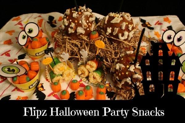 Flipz Halloween Party Snacks #HalloweenFLIPZ #ad