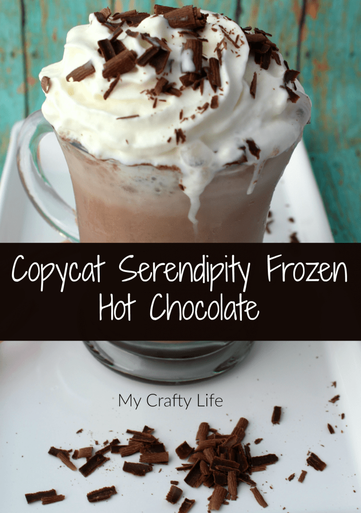 Copycat Serendipity Frozen Hot Chocolate Recipe - yummy, chocolaty goodness in a glass.