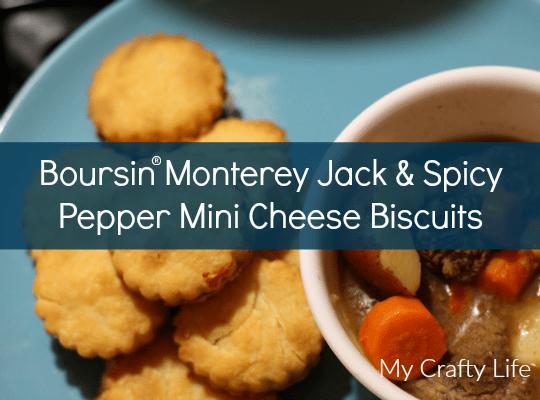 Monterey Jack and Spicy Pepper Mini Biscuits #LoveBoursin @walmart #ad