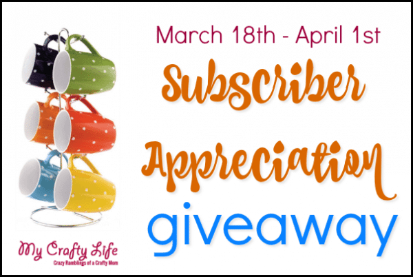 Subscriber Appreciation Coffee Cup Set Giveaway – ends April 1st
