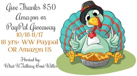 Give Thanks $50 Amazon or PayPal Giveaway