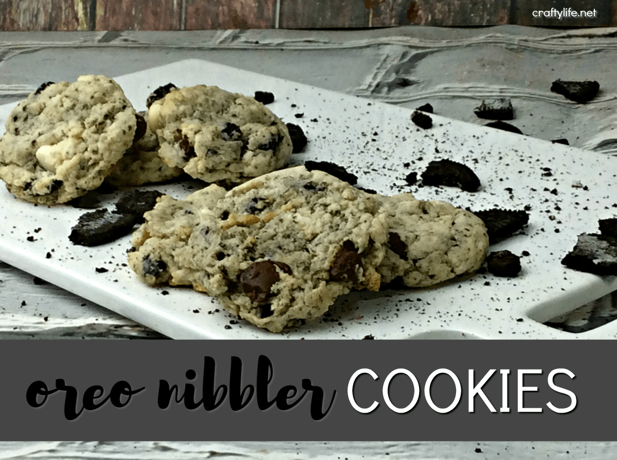 Oreo Nibblers Cookie Recipe - Pair it with a mug of hot chocolate or milk and create perfect midnight snack!