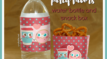 Printable Coffee and Donut Party Favors