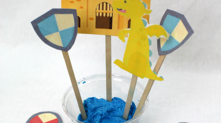 DIY Castle Moat Fluffy Slime plus printable