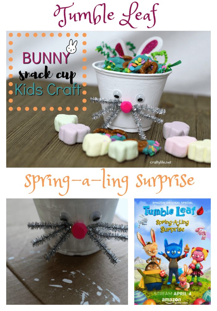 Tumble Leaf Bunny Snack Cup Kids Craft - This adorable Bunny Snack Cup Kids Craft has already hopped its way into our hearts. (ad)