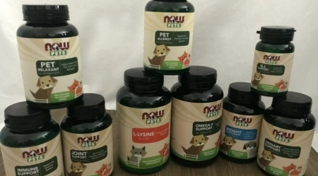 Aura and Frosty are super grateful for NOW® Pets Supplements