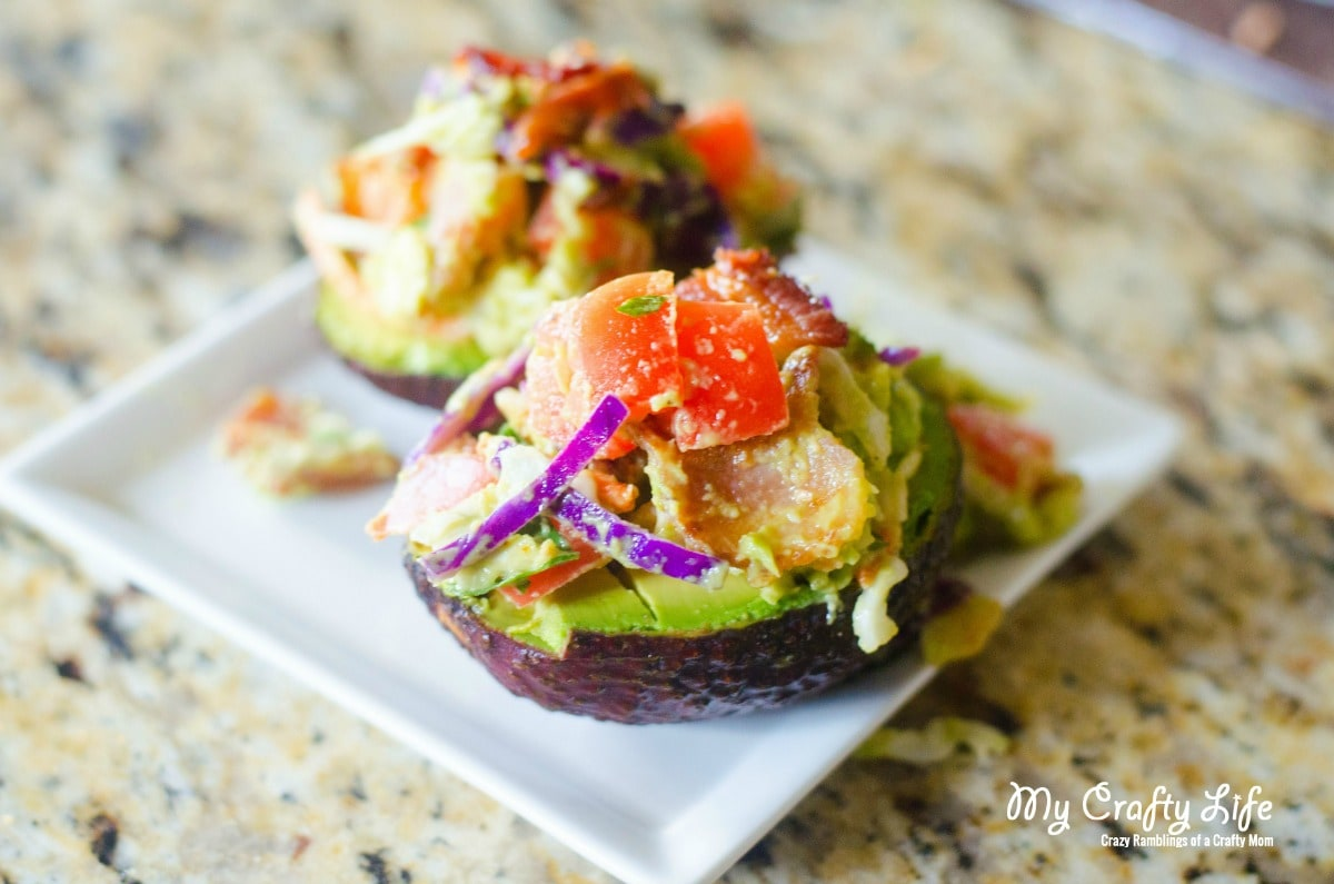 BLT Key Lime Stuffed Avocados