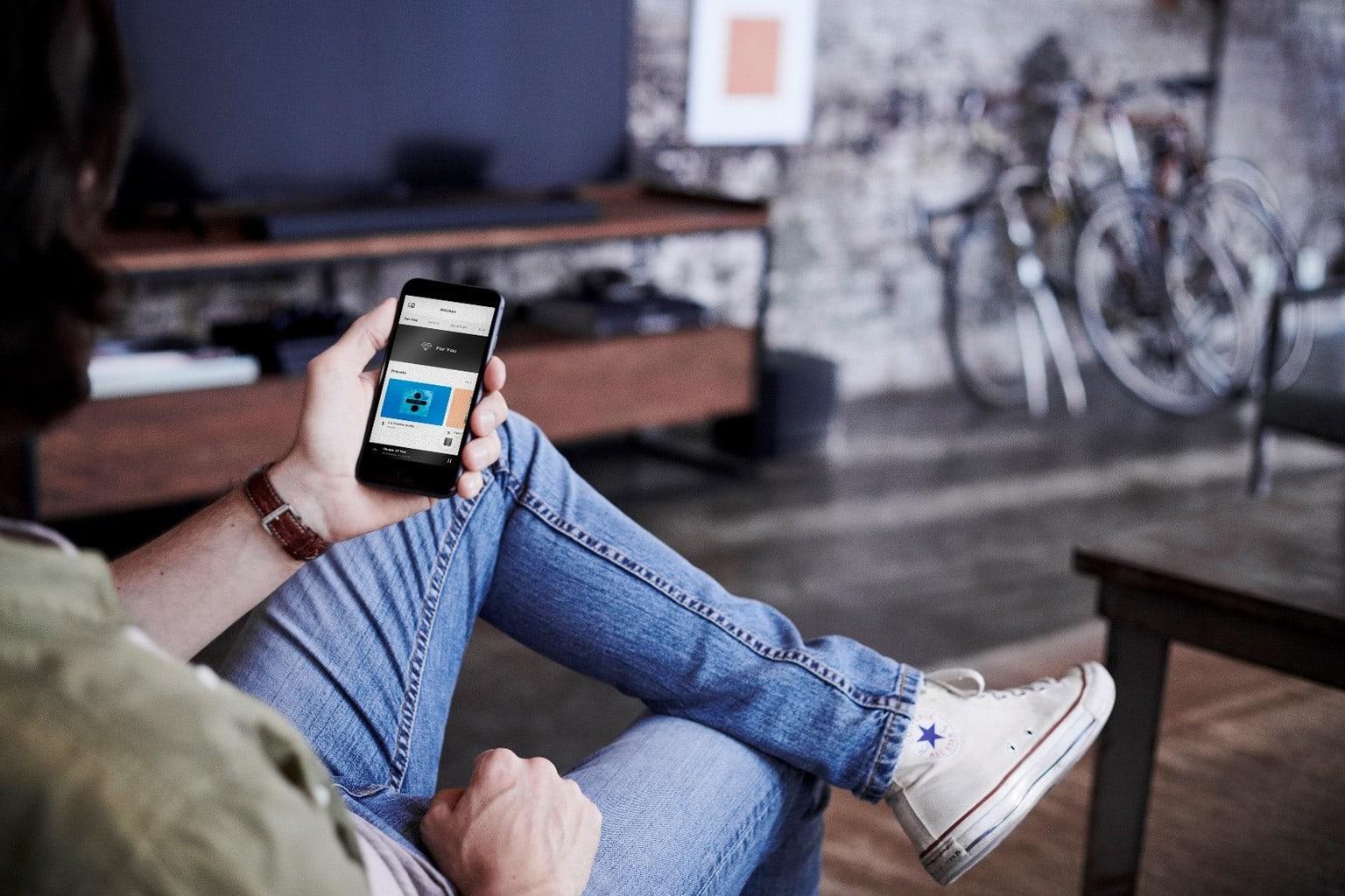 Bose app on smartphone